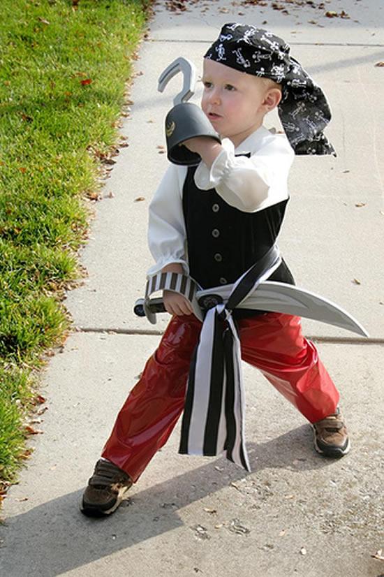 Fantasia infantil de pirata