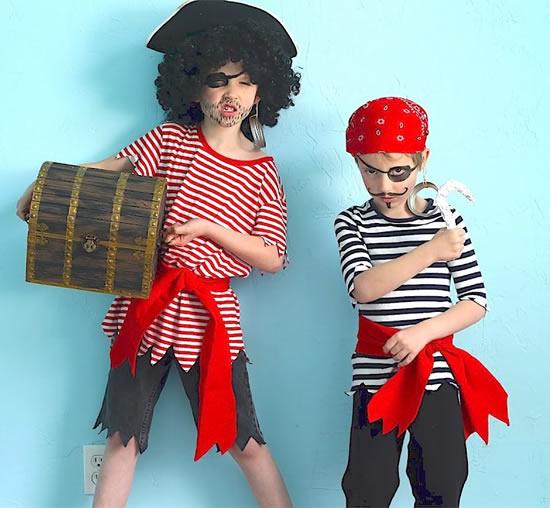 Lindas fantasias de pirata para crianças