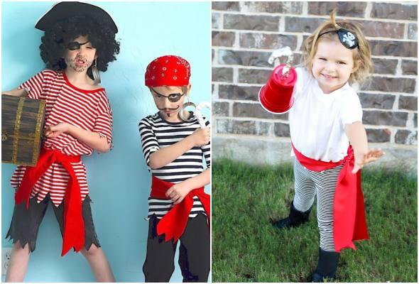 Fantasia de pirata para crianças
