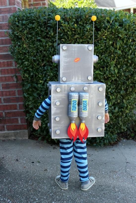 Dica para fazer fantasia infantil de robô