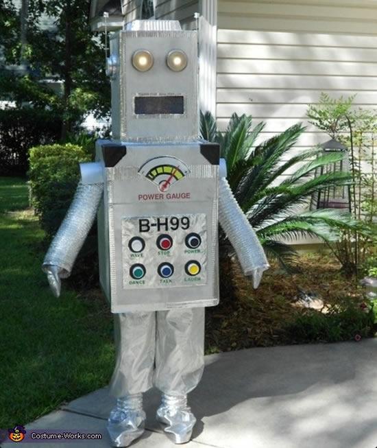 Fantasia de robô infantil