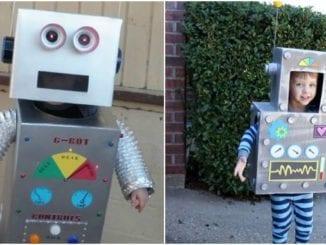 Fantasia infantil de robô para Carnaval
