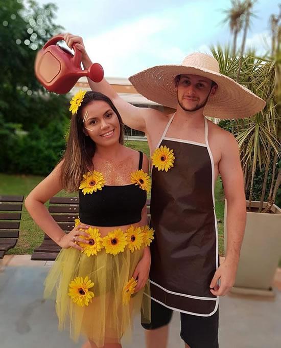 Ideia para fantasia para Carnaval de Jardineiro e Margarida
