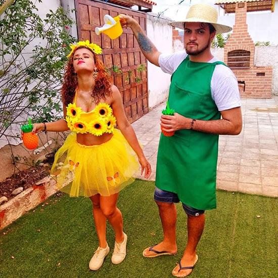 Ideia para fantasia de Jardineiro e Margarida