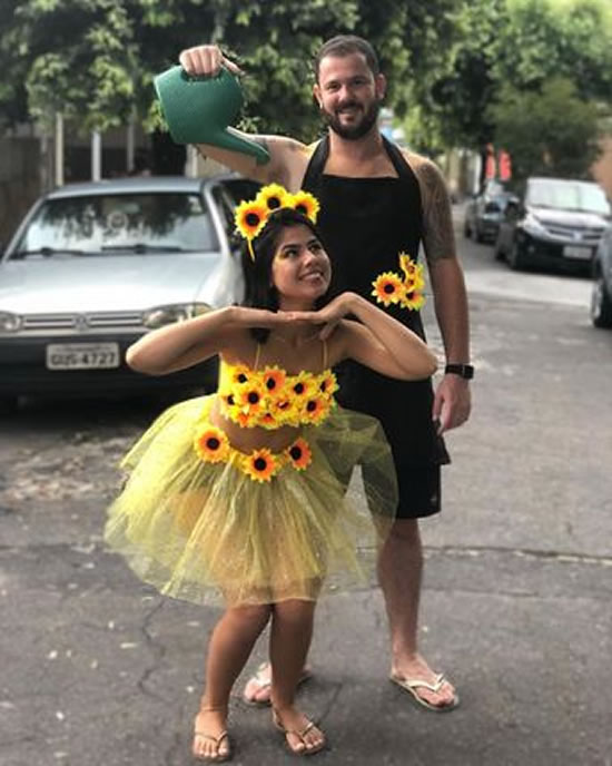 Fantasia Margarida e Jardineiro para Carnaval