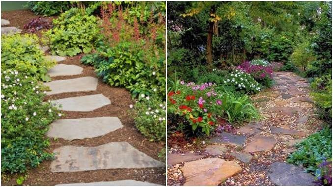 30 ideias para fazer caminhos com pedras para jardim