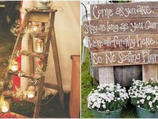 20 ideias para decoração rústica para casamento