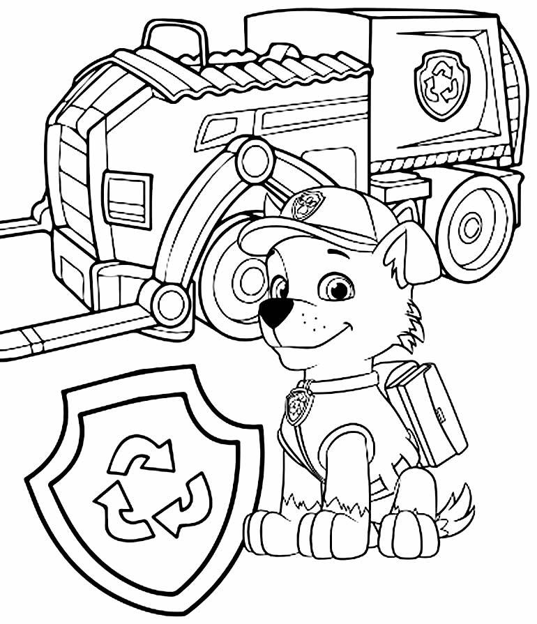 Desenhos da Patrulha Canina carrinho