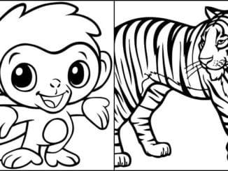 Imagens de bichos para colorir