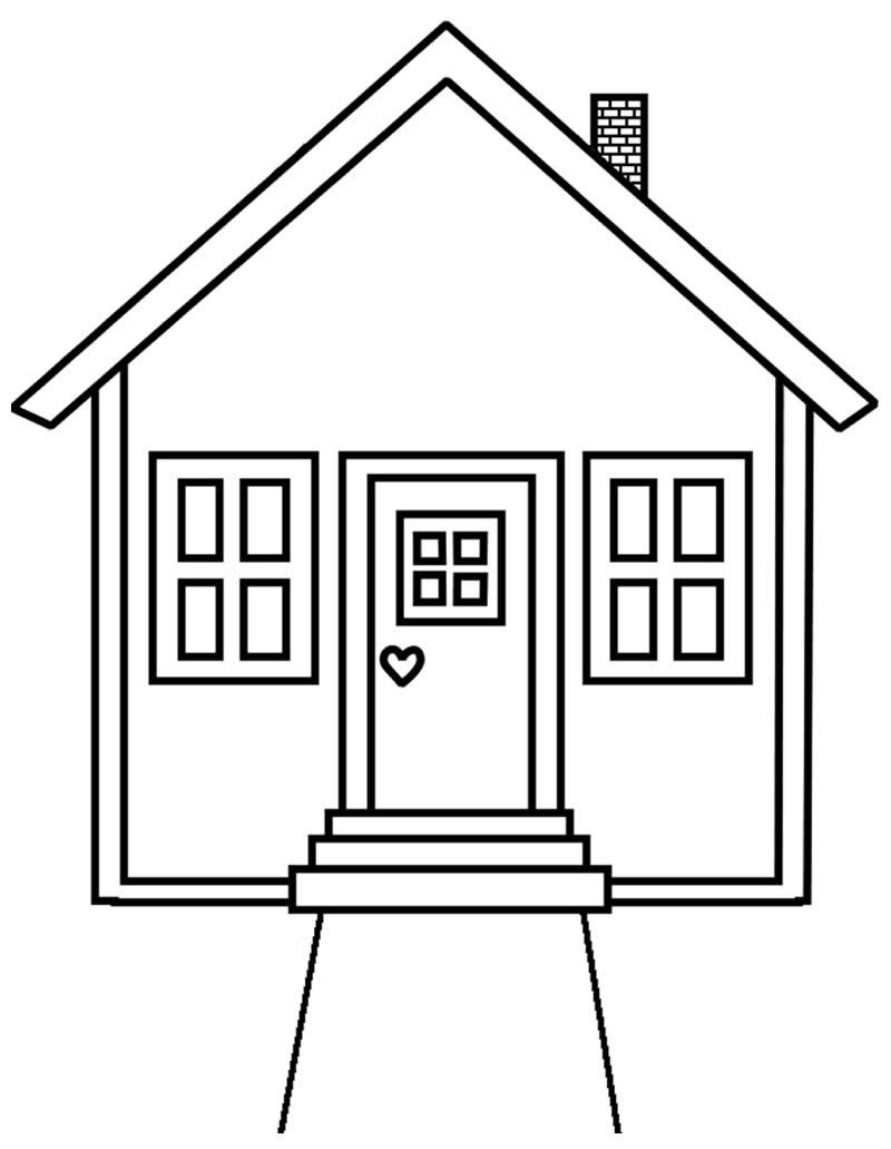 Molde de casa para pintar