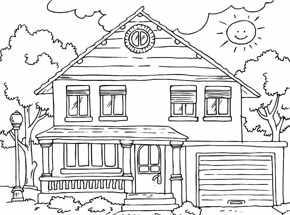 Imagem para pintar de Casa