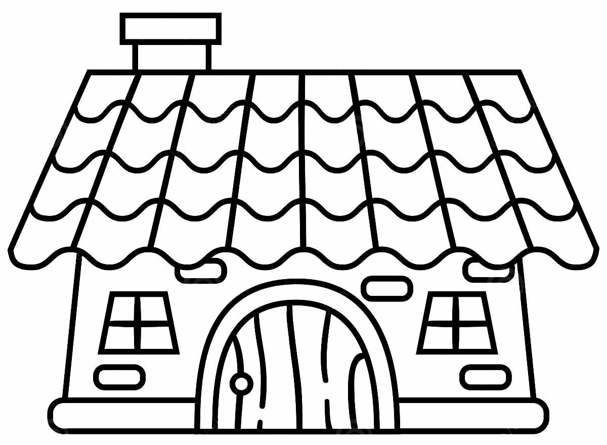 Desenho para colorir de Casa