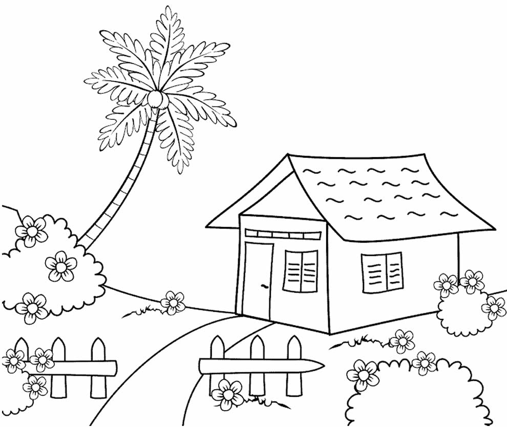 Desenho para pintar de Casa