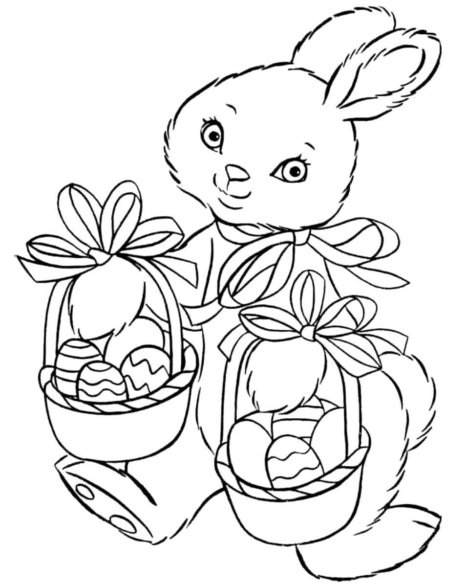 Imagem de Coelhinho da Páscoa para colorir