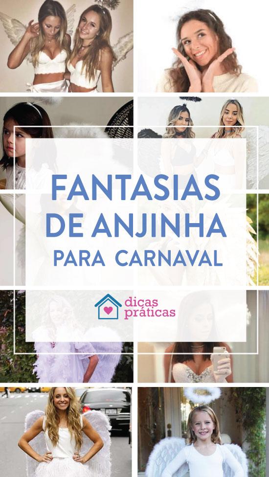 Fantasia de anjinha para Carnaval