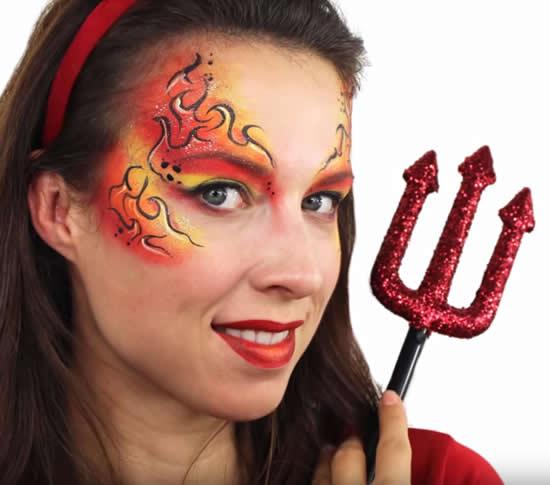 Maquiagem para fantasia de diabinha