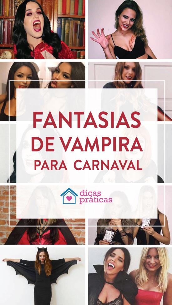 Fantasia de vampira para Carnaval