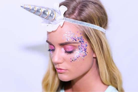 Faça uma maquiagem linda para sua fantasia de unicórnio