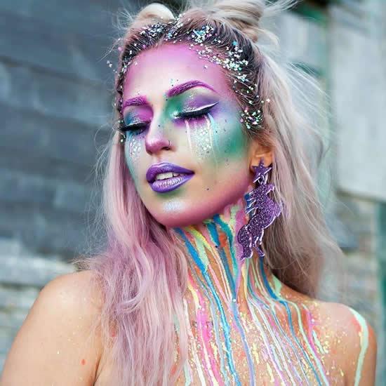 Make up para fantasia de unicórnio