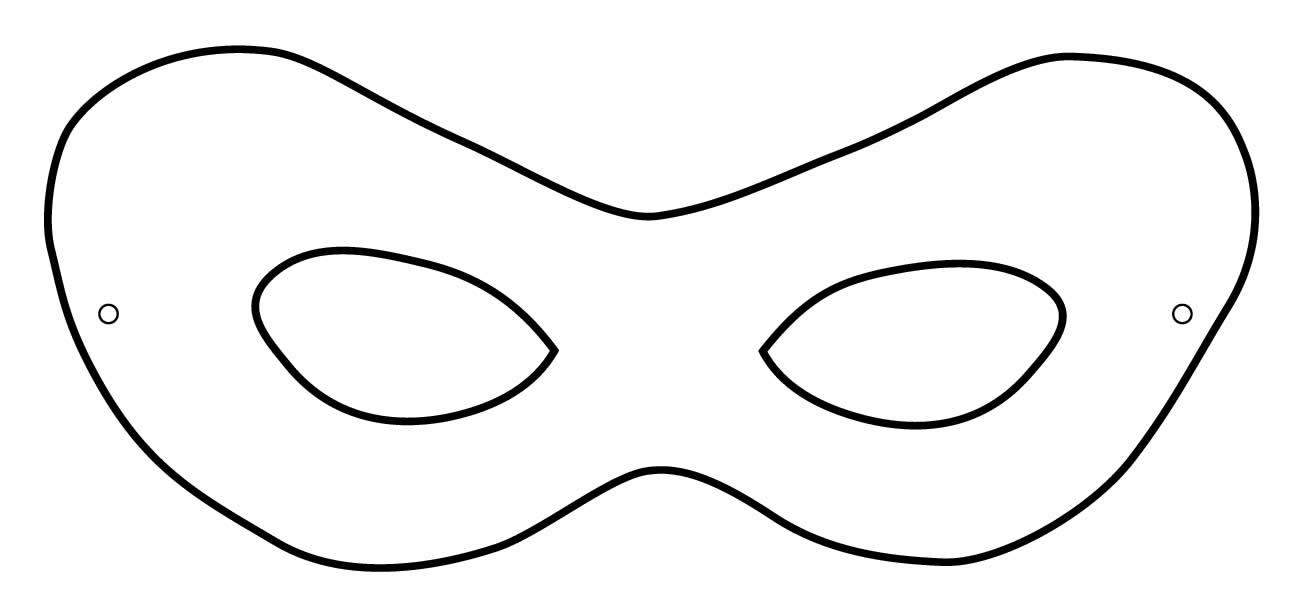 Molde de máscara carnavalesca