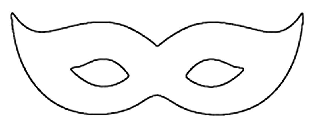 Molde criativo de máscara de carnaval