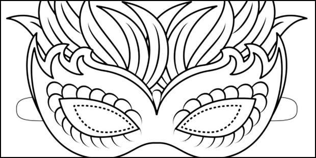 Moldes para fazer máscaras de Carnaval