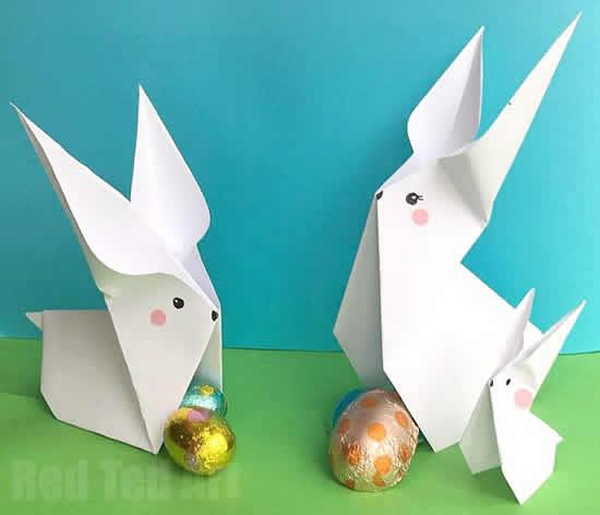 Lindos coelhinhos de papel para Páscoa passo a passo