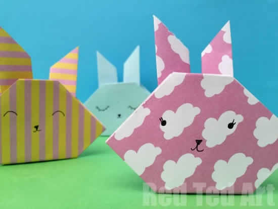 Lindos coelhinhos de papel para Páscoa