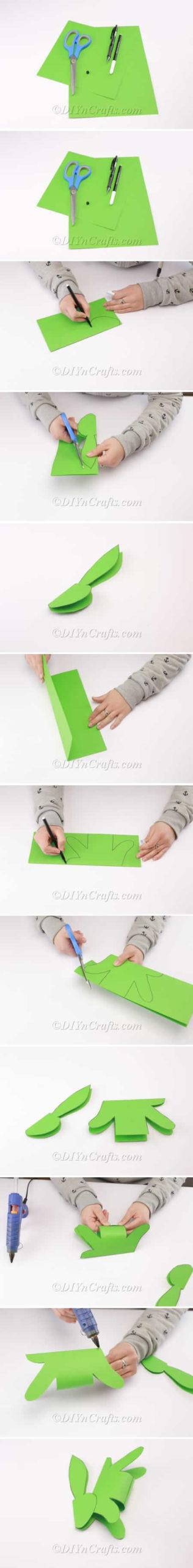 Coelhinho de papel para Páscoa passo a passo