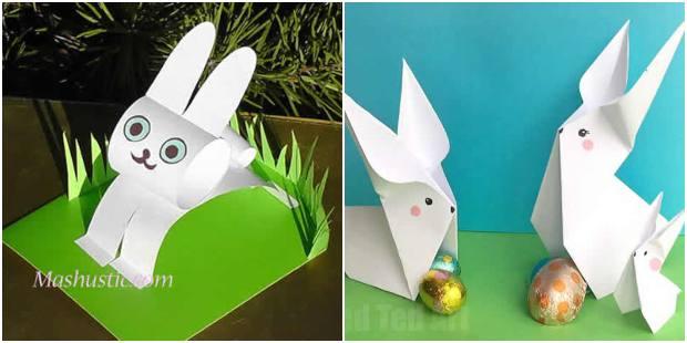 Como fazer coelhinho de papel passo a passo