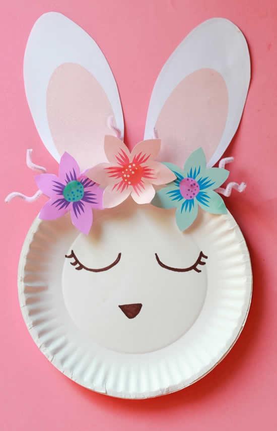 Coelhinhos com pratos de papel