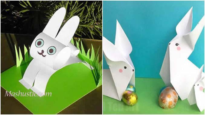 Coelhinhos de papel