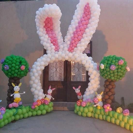 Portal de Páscoa com balões