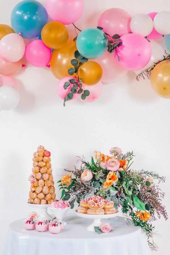 Ideias de Páscoa com balões