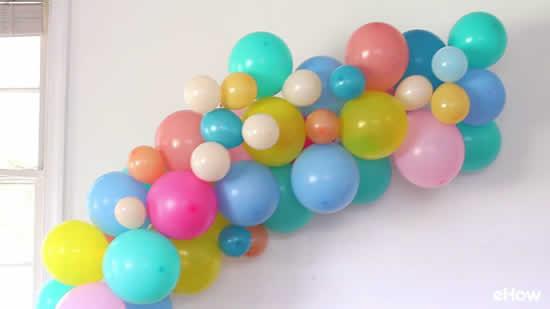 Enfeites de Páscoa com balões