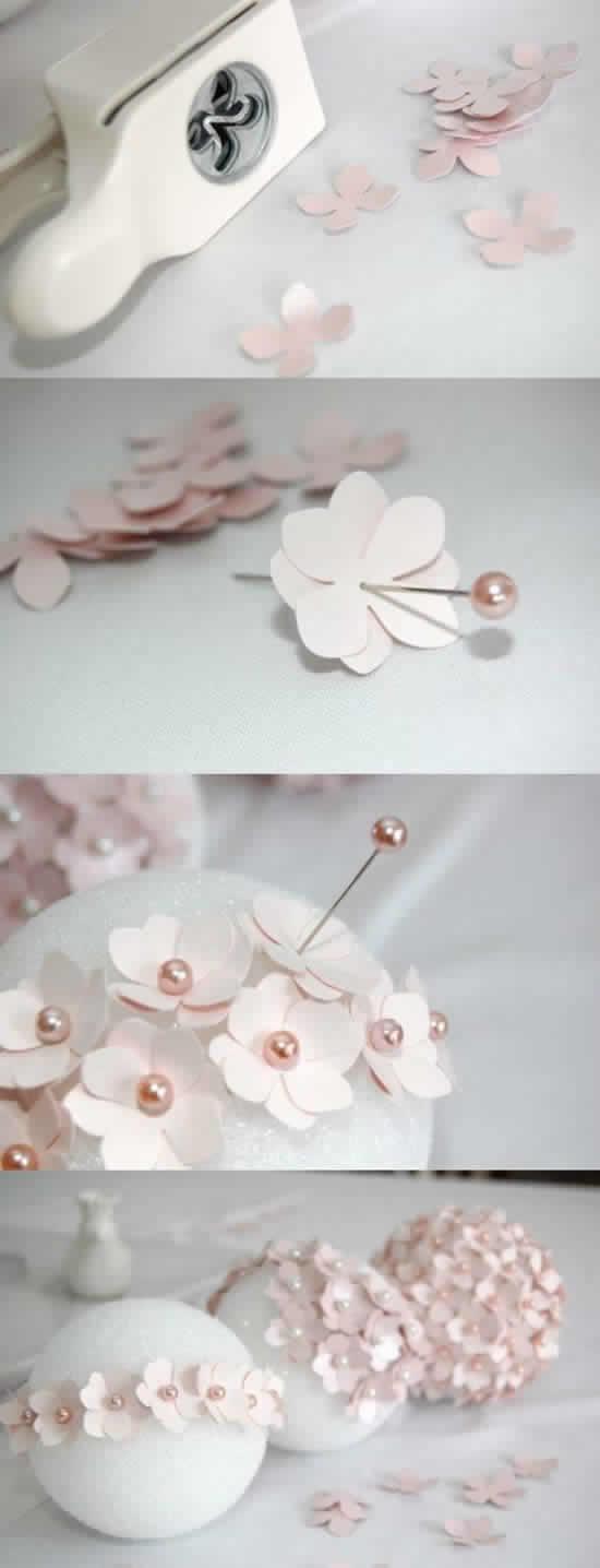 Flores lindas de papel