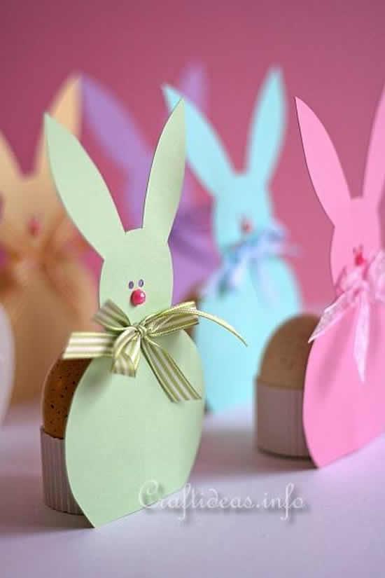 Coelhinhos de papel para decoração