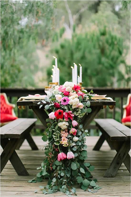 Ideias para decoração de mesa de casamento