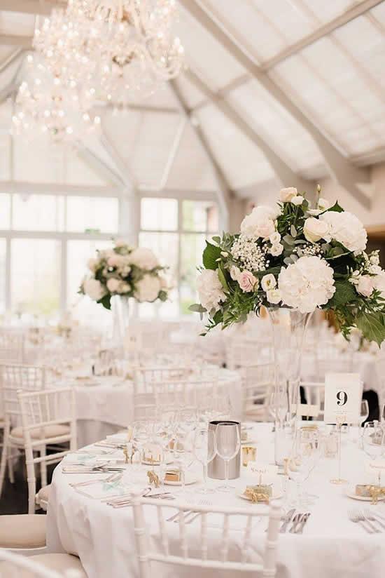 Decoração de casamento para mesas