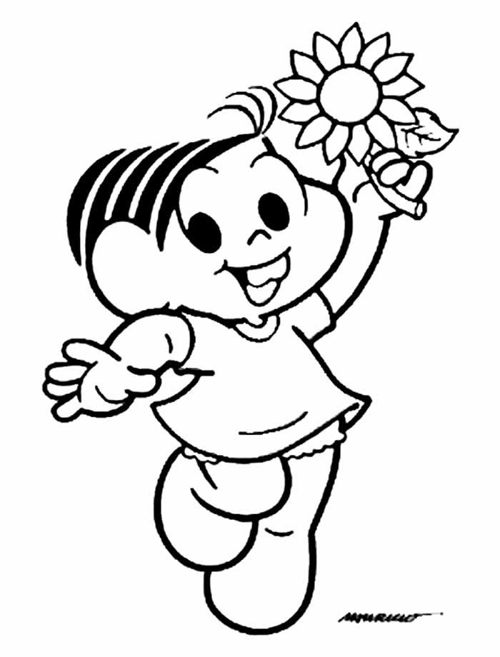 Desenho da Mônica para colorir