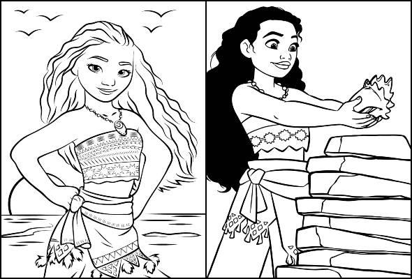 Imagens de Moana para colorir