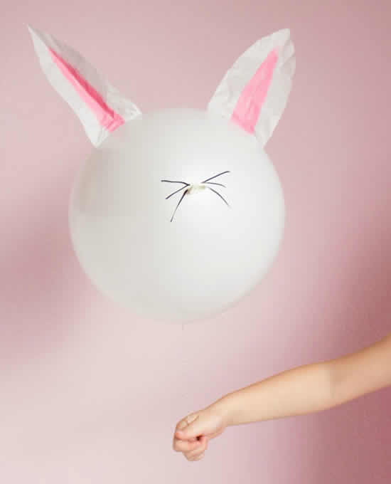 Decoração de Páscoa com balões