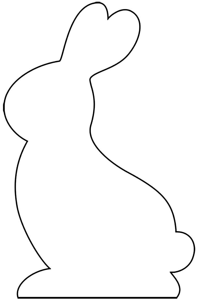 Molde de coelhinho para imprimir