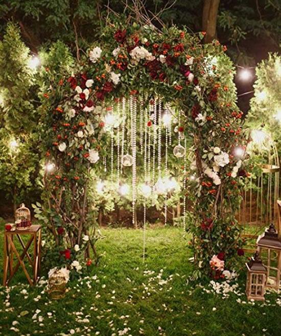 Inspirações para portal para casamento no campo
