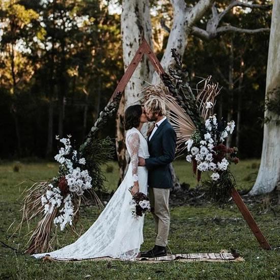 Decoração para casamento com um lindo portal
