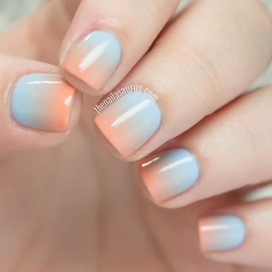 Faça lindas unhas de gel com degradê