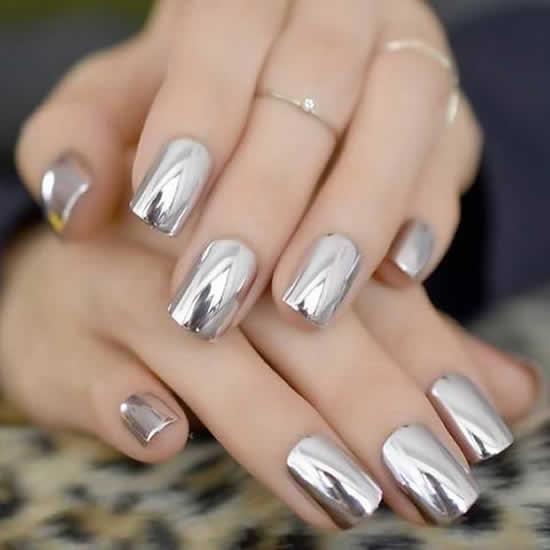Unha de gel simples - nail art
