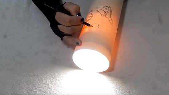 Como fazer arte em cano PVC