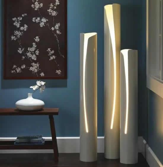 Lindas luminárias com canos PVC