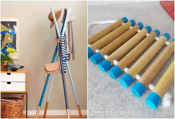 Artesanatos com cabos de vassoura para fazer em casa